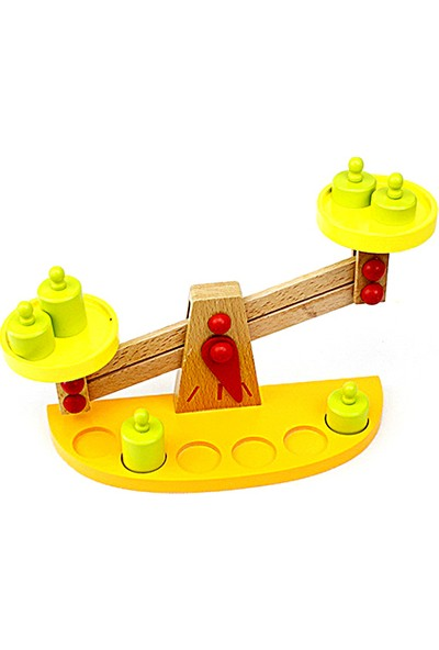 Hi-Q Toys Ahşap Terazi Eğitici Oyuncak