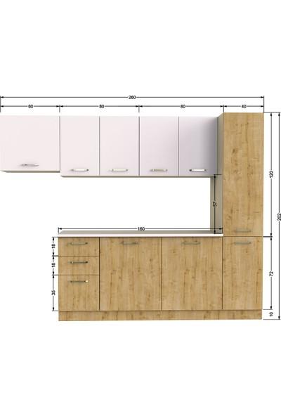 T Designo Evo Mutfak Dolabı - Safir Meşe