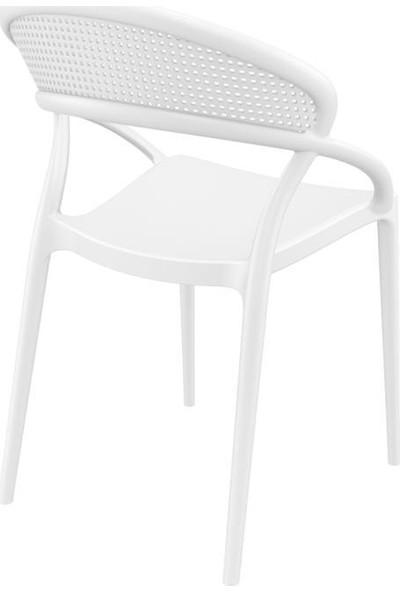 Siesta Sunset Iç ve Dış Mekan Sandalyesi Beyaz