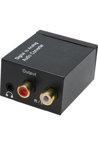 Alfais 5057 Dijital To Analog 3.5mm Optik Ses Tos Çevirici Dönüştürücü Adaptör