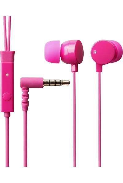Elecom Mikrofonlu Kulaklık Koyu Pembe