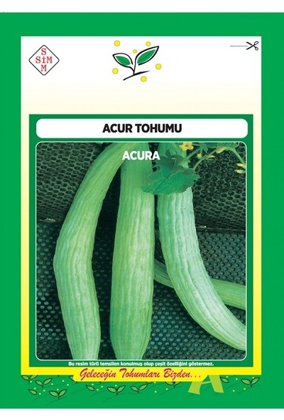 Ekodoğa Acur Tohumu 1 Paket Sebze Tohumu Acar Tohumu Sebze Tohumları Acar Çeşidi Acur Tohumu