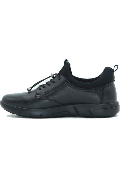 Esse Deri Erkek Günlük Ayakkabı 28607 Siyah