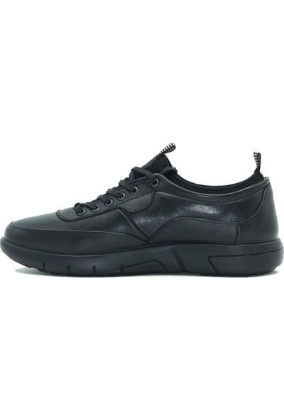 Esse Deri Erkek Günlük Ayakkabı 28602 Siyah
