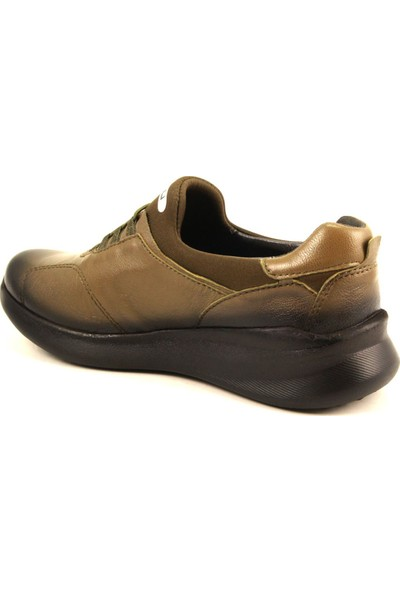 Forelli 54501 Kadın Haki Hallüx Deri Ayakkabı