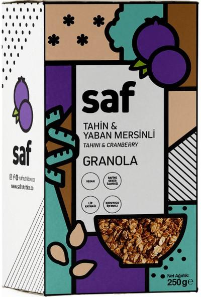 Saf Nutrition Tahin & Yaban Mersinli Granola, 250 gr