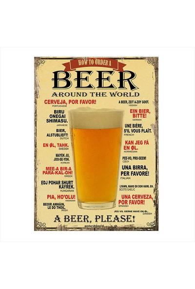 Tablomega Bira Bardağı Dekoratif Mdf Tablo