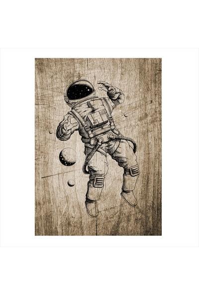 Tablomega Astronot Tasarım Mdf Tablo