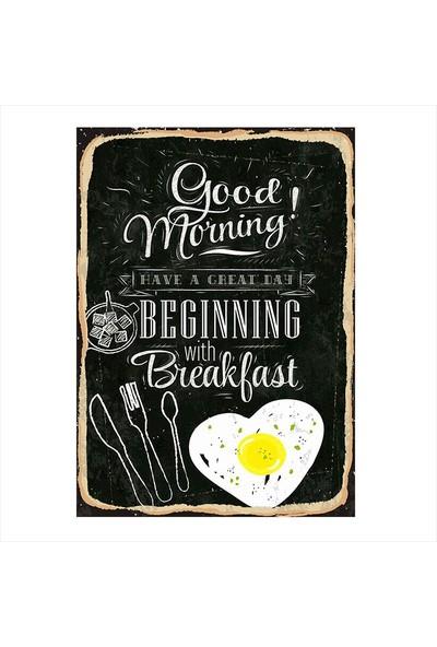 Tablomega Sabah Kahvaltısı Hediyelik Ahşap Tablo
