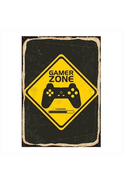 Tablomega Gamer Zone Tasarım Ahşap Tablo