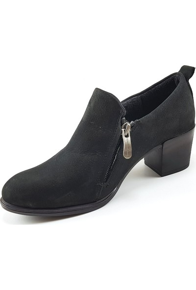 Mammamia 3120 Günlük Kadın Ayakkabı - Siyah Nubuk Kadın Ayakkabı