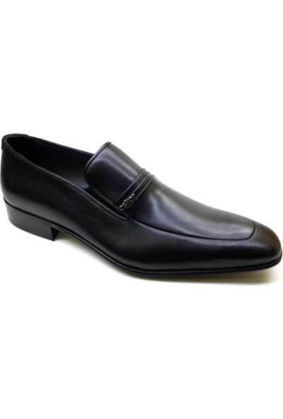 Oskar 445 Kösele Erkek Ayakkabı - Siyah Ayakkabı