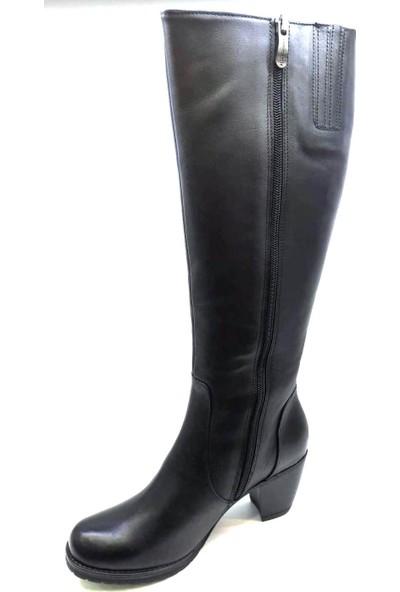 Mammamia 2045 Günlük Kadın Çizme - Siyah Kadın Çizme