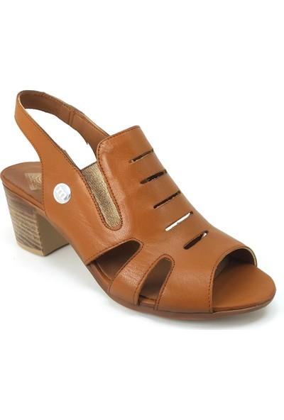 Mammamia 1045 Günlük Kadın Sandalet - Taba Kadın Ayakkabı