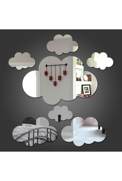 Dez Bulutlar Dekoratif Duvar Aynası 7 Parça