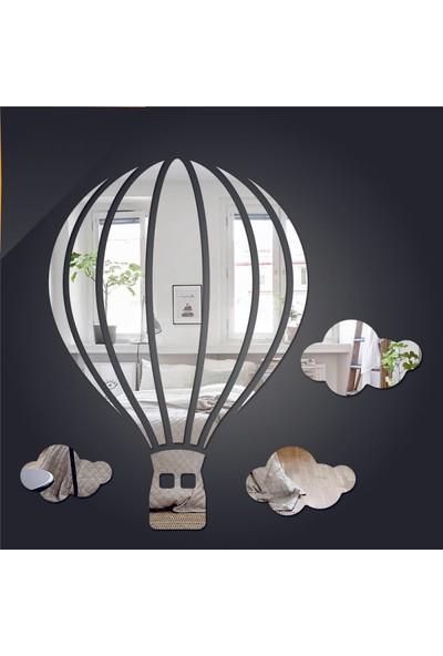 Dez Balon ve Bulut Figürlü Dekoratif Ayna 4 Parça