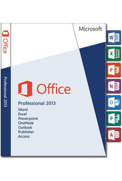 Microsoft Office 2013 Profesyonel 32/64 Bit Süresiz Lisans
