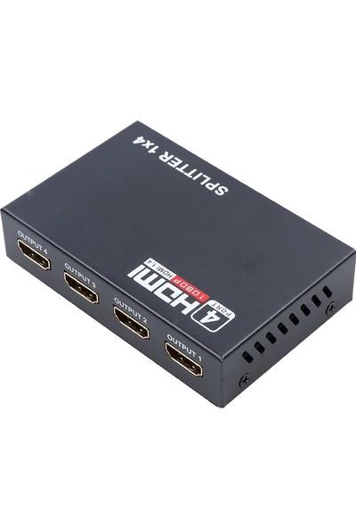 Alfais 4410 4 Port Hdmi Splitter Çoklu Ekran Çoklayıcı Switch