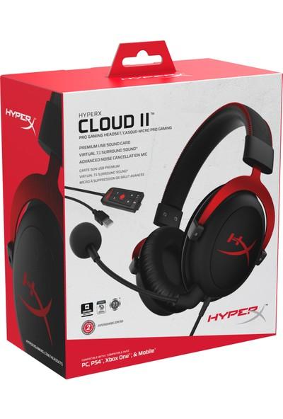 HyperX Cloud II Oyuncu Kulaklık Kırmızı KHX-HSCP-RD