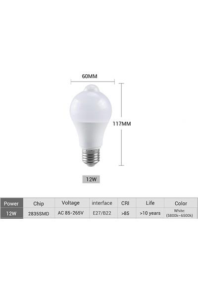 ALTAY Hareket Sensörlü LED Ampul 12 W Beyaz