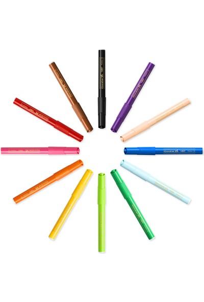 Bic Kids Visa Color XL Yıkanabilir Keçeli Boya Kalemi 24 Renk