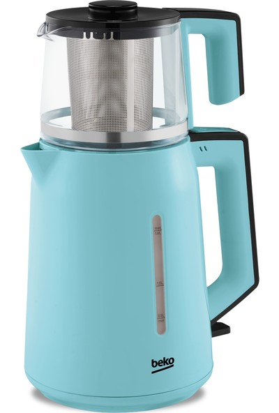 Beko cm 2940 M Mavi Cam Demlikli Çay Makinesi