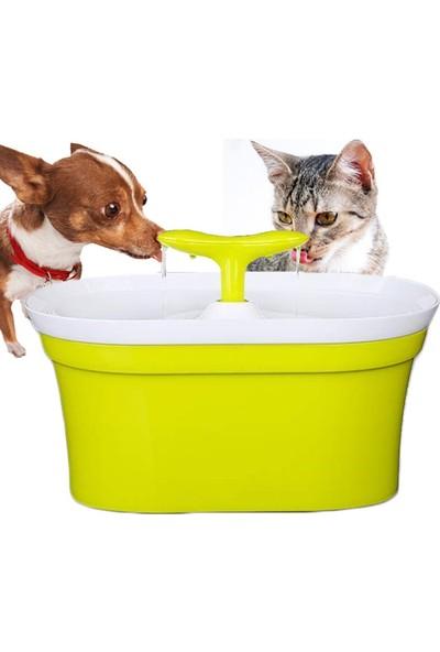 New Generation 3 in 1 Çift Çıkışlı Otomatik Kedi & Köpek Su Kabı 2 lt