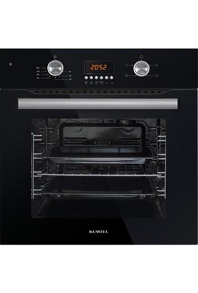 Kumtel 3'lü Ankastre Set (A6-SF2 Siyah Fırın + KO 40TA-HDF Siyah NG Cam Ocak + DA6-835 B Siyah Davlumbaz)
