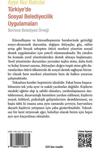 Türkiye'de Sosyal Belediyecilik Uygulamaları Bornova Belediyesi Örneği - Ayşe Nur Balcılar