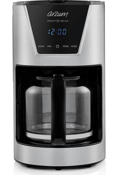 Arzum AR3081 Brewtime Delux Filtre Kahve Makinesi – Inox