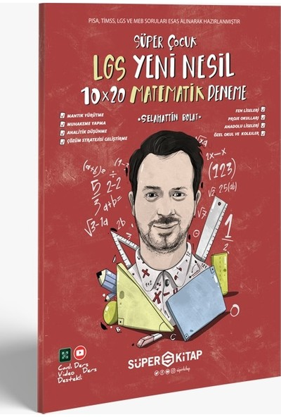 Süper Kitap Yayınları Süper Çocuk Lgs Yeni Nesil 10 × 20 Matematik Deneme