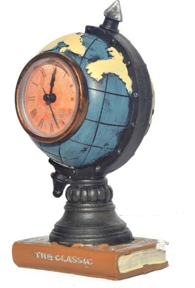 Wepools Antik Dünya Dekoratif Masa Saati Mavi