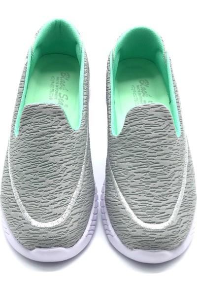 Polo1988 553 Black Sea-Buz-Su Yeşili Kadın Ayakkabı