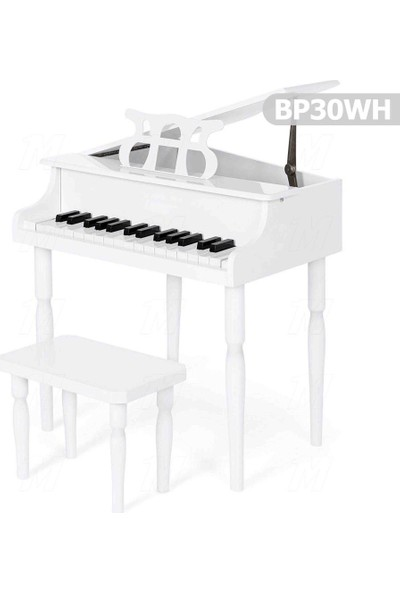 Manuel Raymond BP30WH 30 Tuşlu Akustik Ahşap Çocuk Piyanosu - Beyaz
