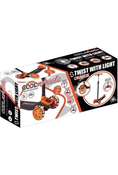 Cool Wheels Twist LED Işıklı 3 Tekerlekli Yükseklik Ayarlı Scooter - Turuncu
