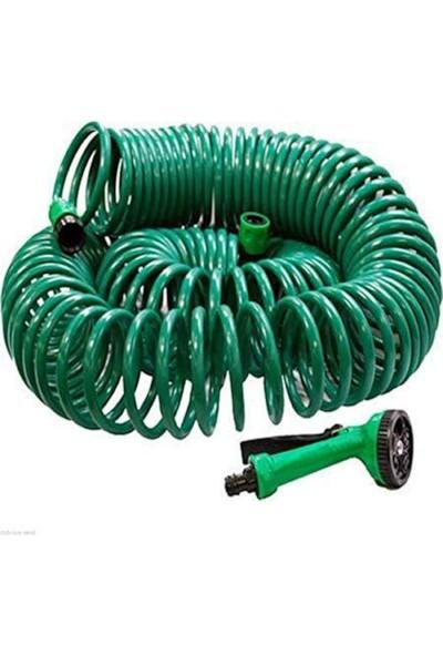 Değir Ibovıa 30 Metre Spiral Lüx Basınçlı Hortum Bahçe Araba Yıkama Hortumu