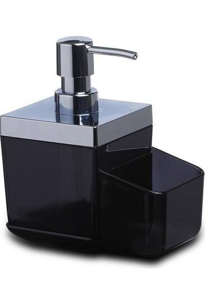 Primanova Toskana Şeffaf Siyah Mutfak Sıvı Sabunluk
