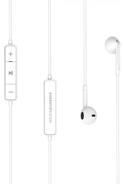 EnergySistem 1 Bluetooth Kablosuz Kulakiçi Kulaklık Beyaz