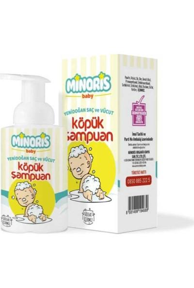 Minoris Baby Organik Yenidoğan Saç ve Vücut Köpük Şampuanı