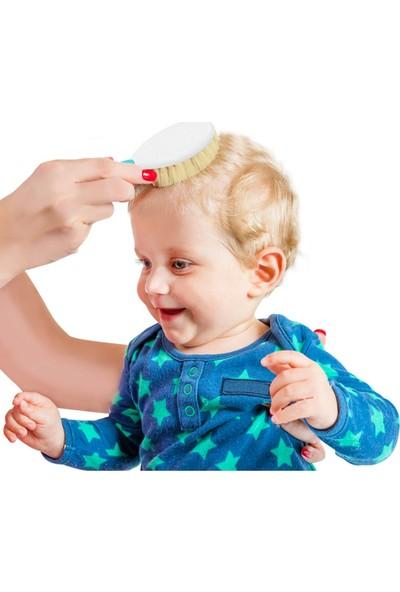 Babyjem Fırça Tarak Seti Doğal Kıl Pembe