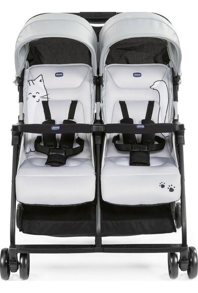 Chicco Ohlala 2 Twin Ultra Hafif Ikiz Bebek Arabası / Silver Cat