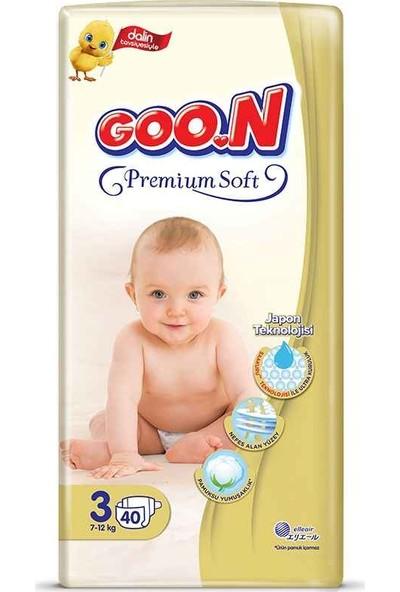 Goon Premium Soft Bebek Bezi 3 Beden Jumbo Paket 40 Adet