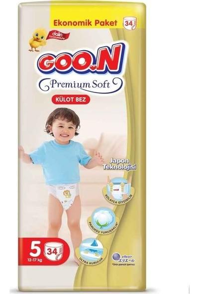 Goon Premium Soft Külot Bez 5 Beden Ekonomik Paket 34 Adet