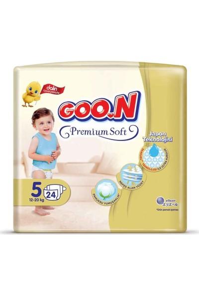 Goon Premium Soft Bebek Bezi 5 Beden Jumbo Paket 24 Adet