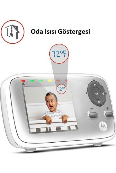 Motorola MBP 483 2.8 İnç LCD Ekran Dijital Bebek Kamerası