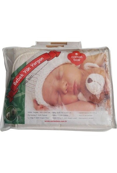 Cotton Box 4060 Bebek Yün Yorgan Krem