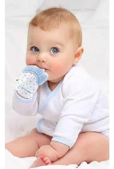 Babyjem Diş Kaşıyıcı Eldiven Mavi