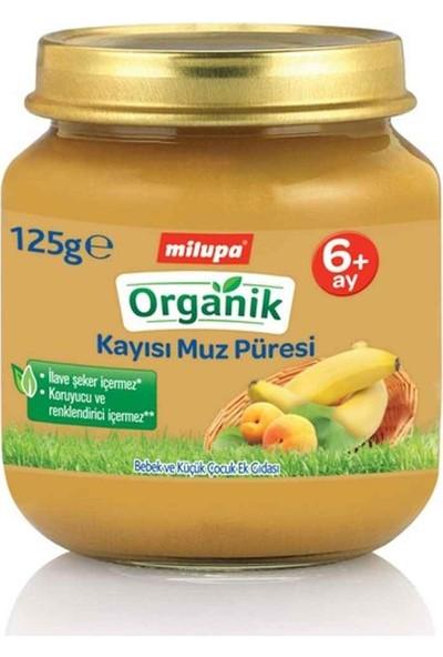 Milupa Organik Kayısı Muz Püreli Kavanoz Maması 125 gr