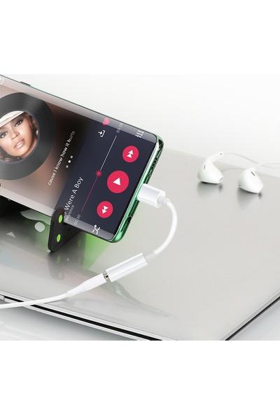 Kyver Type-C To Aux 3.5mm Kulaklık Çevirici Dönüştürücü Adaptör - Beyaz