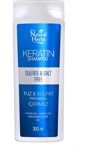 Natural Herbs Sülfatsız Tuzsuz Keratin Şampuan 300 Ml